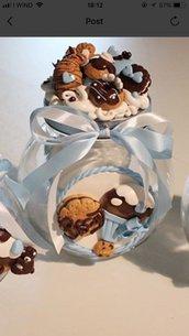 Barattoli vetro per biscotti o portazucchero decorati in fimo