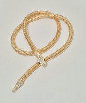 """Collana lunga snodata a forma di serpente """"Cleopatra"""""""