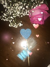 Segnaposto cuore farfalla fiore