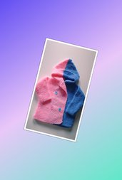 Giacchino per neonata con cappuccio ( 0 - 3 mesi )