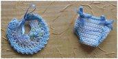 Bomboniere mini pannolino e mini bavaglino nascita/battesimo