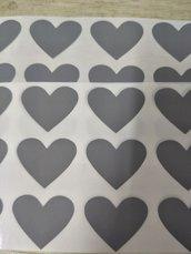 Gratta e vinci/Scratch Off stickers colore argento a forma di cuore so5