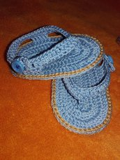 Infradito sandali neonato all'uncinetto unisex puro cotone idea regalo mamma e bambino 0-3 mesi