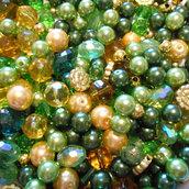 Mix perle verde oro 200 grammi