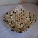 Centrotavola creato con buste di caffè
