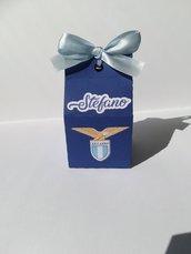 Scatolina scatoline segnaposto porta confetti caramelle dolci compleanno anni 30 18 SS Lazio as Roma serie a squadre calcio