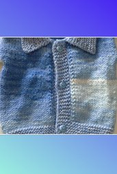 Golfino  per neonato sfumato azzurro ( 0-3 mesi)