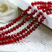 70 rondelle cristallo rosso scuro 8 mm