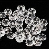 57 rondelle cristallo trasparente 10 mm