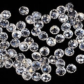69 rondelle cristallo trasparente 6 mm