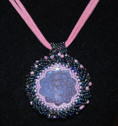 Medaglione pietra rosa peyote