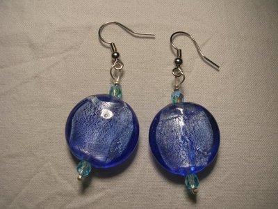 Oreccchini vetro blu