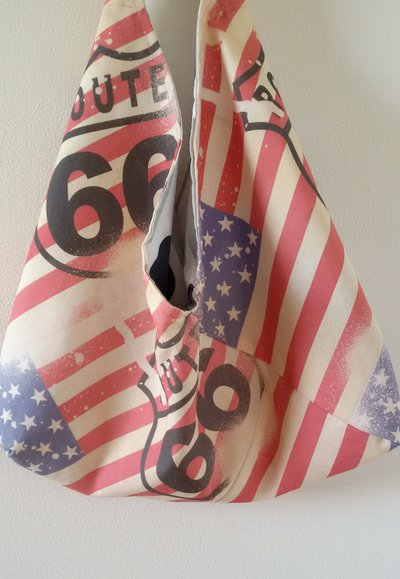 Borsa origami tessuto fantasia america