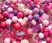 Mix perle rosa viola 160 grammi