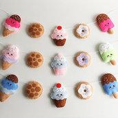 ghirlanda cupcake feltro