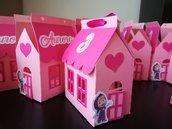 Scatolina scatoline porta confetti segnaposto Masha e orso compleanno battesimo evento casa bimba