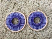 Orecchini mandala viola