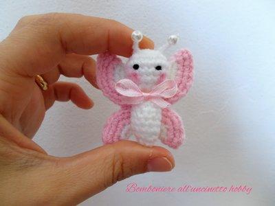 FARFALLA amigurumi all'uncinetto - Butterfly amigurumi crochet ... | 300x400