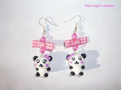 Orecchini panda kawaii