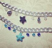 Bracciali con cristallini e stella Marina