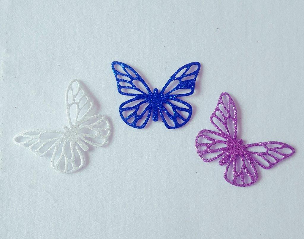 Decorazione farfalla in gomma crepla