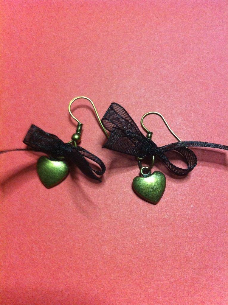 coppia orecchini cuore