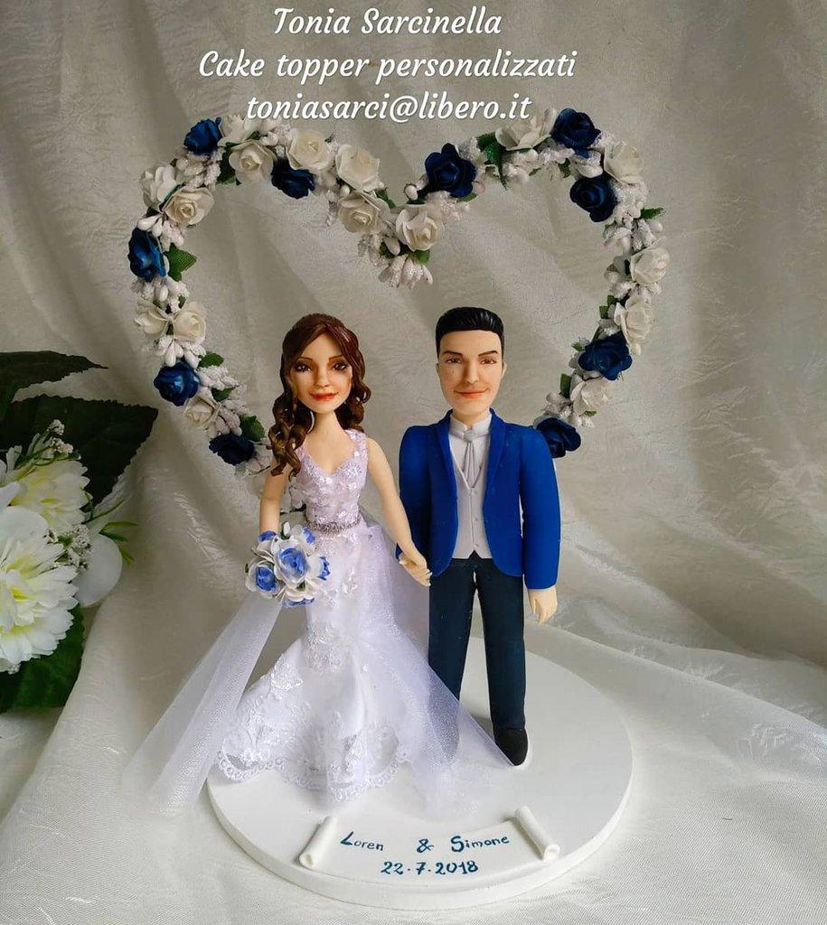 Wedding cake topper sposi personalizzati realistici