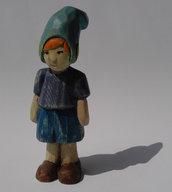 Elfo del bosco scolpito in legno di cirmolo - Pierino