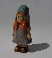 Elfo del bosco scolpito in legno di cirmolo - Carmelina