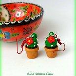 Orecchini Cactus in fimo, gioielli estivi, gioielli tropicali, orecchini esotici, gioielli cactus, accessori cactus, regalo cactus, trendy