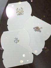 Scatoline portaconfetti per la cresima
