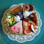 torta di feltro, gioco creativo, montessori, Felt Swiss cakes set. Felt bakery. Felt pastry. Toy kitchen. Felt sweets shop