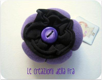 Spilla Fiore Imbottito Viola