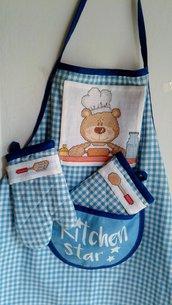 grembiulino da cucina per bambina