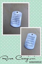 Medagliette incise personalizzate