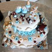 Decorazioni torte in fimo.