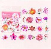 Sticker fiori colore rosa intenso st284