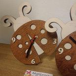 Orologio Coccinella in legno