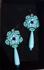 Orecchini FIBY Turquoise con perle SWAROVSKI