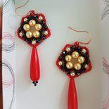 Orecchini FIBY Red con perle SWAROVSKI