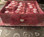 Scatoline in pvc portaconfetti/porta marshmallows compleanni, matrimonio