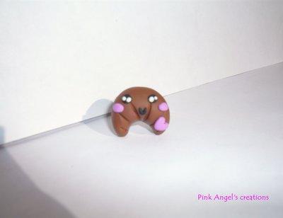 Anello croissant kawaii