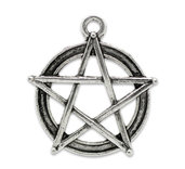 10 charms ciondoli pentacolo pentagramma tono argento