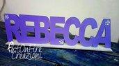 Banner in legno con nome personalizzato