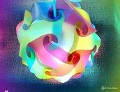 Lampada colorata per comodino