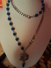 COLLANA CATENA / ROSARIO OPAQUE BLUE