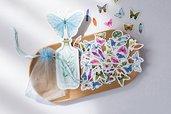 Stickers farfalle in organza st289