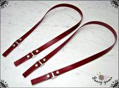 Manici per borsa 52 cm, similpelle lucida, 3 colori disponibili