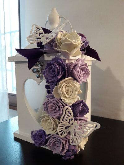 Lanterna romantica rose