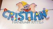 Banner cameretta Dumbo in festa Handmade KriTiLo